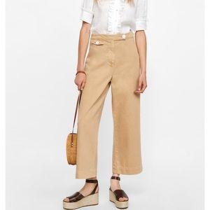 Zara Woman Premium Marine Culotte Nude Jeans